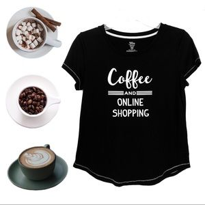 Coffee & Shopping Graphic Top, S